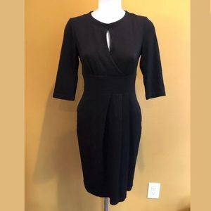 May Unger Black keyhole cocktail party dress 4